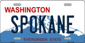 Spokane Washington Background Wholesale Metal Novelty License Plate