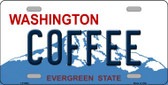 Coffee Washington Background Wholesale Metal Novelty License Plate