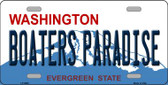 Boaters Paradise Washington Background Wholesale Metal Novelty License Plate