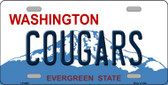 Cougars Washington Background Wholesale Metal Novelty License Plate