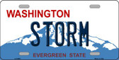 Storm Washington Background Wholesale Metal Novelty License Plate