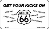 Route 66 Eight States Wholesale Novelty Metal Magnet