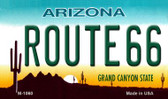 Route 66 Arizona Wholesale Novelty Metal Magnet