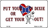 Put Your Heart In Dixie Wholesale Novelty Metal Magnet