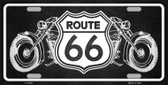 Route 66 With Bikes Wholesale Metal Novelty License Plate