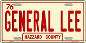 General Lee Wholesale Metal Novelty License Plate