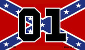 01 On Confederate Flag Wholesale Novelty Metal Magnet