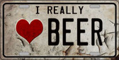 I Love Beer Wholesale Metal Novelty License Plate