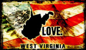 Love West Virginia Wholesale Novelty Metal Magnet