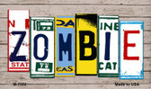 Zombie Wood License Plate Art Wholesale Novelty Metal Magnet