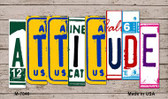 Attitude Wood License Plate Art Wholesale Novelty Metal Magnet