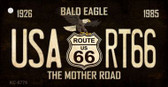 Bald Eagle Route 66 Wholesale Novelty Key Chain