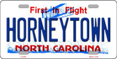 Horneytown North Carolina Background Wholesale Metal Novelty License Plate