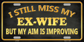 Ex Wife Wholesale Metal Novelty License Plate