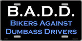 B.A.D. Wholesale Metal Novelty License Plate LP-2003
