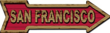 San Francisco Wholesale Novelty Metal Arrow Sign
