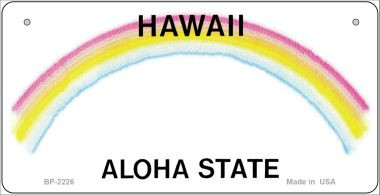 Hawaii Novelty State Background Bicycle License Plate