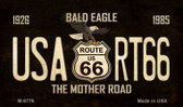 Bald Eagle Route 66 Wholesale Novelty Metal Magnet