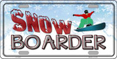 Snow Boarder Wholesale Metal Novelty License Plate