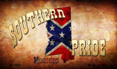 Southern Pride Mississippi Wholesale Novelty Metal Magnet