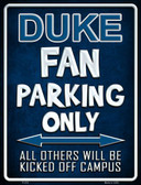 Duke Wholesale Metal Novelty Parking Sign