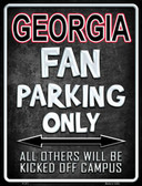 Georgia Wholesale Metal Novelty Parking Sign
