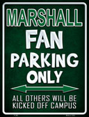 Marshall Wholesale Metal Novelty Parking Sign