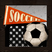 Soccer Wholesale Novelty Metal Square Sign