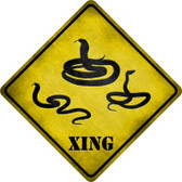 Snakes Xing Wholesale Novelty Metal Crossing Sign