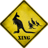 Kangaroo Xing Wholesale Novelty Metal Crossing Sign