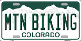 Mtn Biking Colorado Novelty Wholesale Metal License Plate