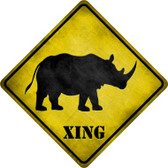 Rhino Xing Wholesale Novelty Metal Crossing Sign