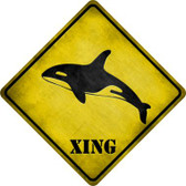 Orca Xing Wholesale Novelty Metal Crossing Sign