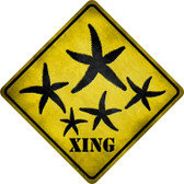 Starfish Xing Wholesale Novelty Metal Crossing Sign