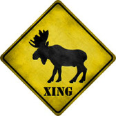 Moose Xing Wholesale Novelty Metal Crossing Sign