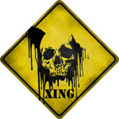 Bleeding Skull Xing Wholesale Novelty Metal Crossing Sign