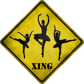 Ballerina Xing Wholesale Novelty Metal Crossing Sign