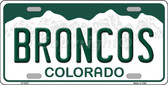 Broncos Colorado State Background Novelty Wholesale Metal License Plate LP-2037
