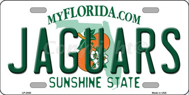 Jaguars florida state background novelty wholesale metal for Florida fishing license for seniors