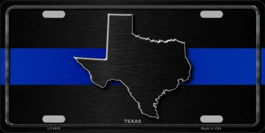 Texas Thin Blue Line Wholesale Metal Novelty License Plate