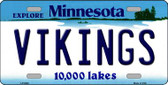 Vikings Minnesota State Background Novelty Wholesale Metal License Plate LP-2048