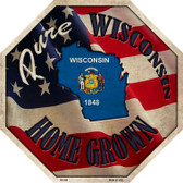 Wisconsin Home Grown Wholesale Metal Novelty Stop Sign