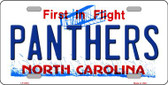 Panthers North Carolina Novelty State Background Wholesale Metal License Plate LP-2054