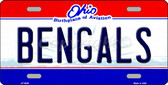 Bengals Ohio State Background Novelty Wholesale Metal License Plate LP-2055