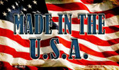 Made In The USA Novelty Metal Magnet