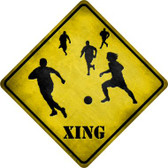 Soccer Xing Wholesale Novelty Metal Crossing Sign