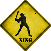 Baseball Xing Wholesale Novelty Metal Crossing Sign
