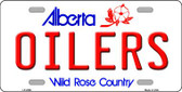 Oilers Alberta Canada Province Background Wholesale Metal Novelty License Plate LP-2066