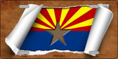 Arizona Flag Scroll Wholesale Metal Novelty License Plate