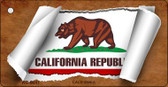 California Flag Scroll Wholesale Novelty Key Chain